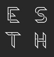 collection letters s t e h identity logo