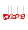 colorful hanging cardboard Tags - weekend vector image vector image