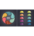 colorful loop infographic template for vector image