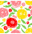 cute floral seamless pattern background with hand vector image