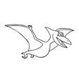 cute little cartoon badinosaur - pterodon vector image vector image
