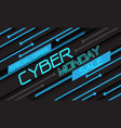 cyber monday sale special offer blue light circuit vector image vector image