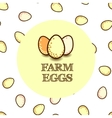 Design template with eggs vector image