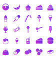 dessert gradient icons on white background vector image