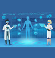 doctors working in augmented reality flat vector image vector image