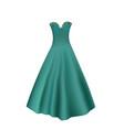 elegant turquoise dress vector image vector image
