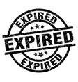expired round grunge black stamp vector image vector image