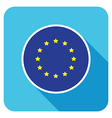 flat european icon vector image