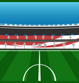 football field with tribune stadium vector image vector image