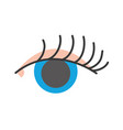 full color vision eye with eyelashes style design vector image vector image