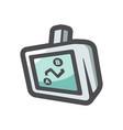 gps navigation device icon cartoon vector image