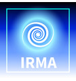 graphic banner of hurricane irma vector image vector image