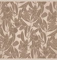 graphic jojoba pattern vector image vector image
