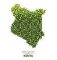 green leaf map kenya a forest vector image vector image