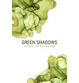 green shades ink background wet ink vector image vector image