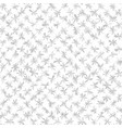 grey flower pattern seamless background vector image vector image