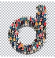 group people shape letter D Transparency vector image vector image
