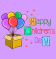 happy childrens day colorful hand draw vector image vector image