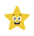 happy star character vector image