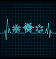Heartbeat make Christmas symbols stock vector image vector image