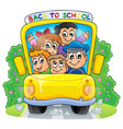 image with school bus theme 2 vector image vector image