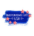 independence day hand drawn lettering design vector image vector image