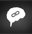 intelligence brain with connection or link icon vector image