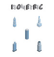 isometric construction set of cityscape vector image vector image