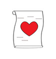 letter with a heart vector image