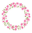 linen flower wreth isolated over white background vector image vector image