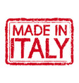 made in italy stamp text vector image vector image