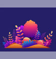 magic forest with trees tropical and exotic vector image