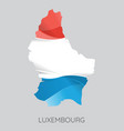 map of luxembourg vector image vector image