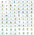 Mega collection of letter logo icons vector image