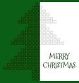 merry christmas green greeting card with square vector image vector image
