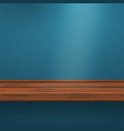 Mock up Shelf on blue vector image