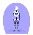 modern robot standing pose bot helper artificial vector image vector image