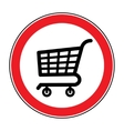 no cart sign 4 vector image vector image