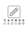 pencil line icon edit sign vector image