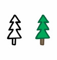 pine trees freehand vector image