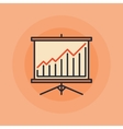 Presentation board and chart icon vector image