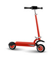 realistic electric kick scooter two wheel vector image