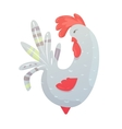 rooster with a red comb vector image