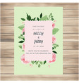 save the date pink roses green background i vector image