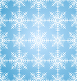 Seamless pattern snowflakes winter set vector image
