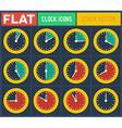 Set of vintage flat clocks vector image