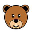 simple cartoon of a cute bear vector image