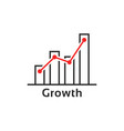 simple thin line growth logo like success vector image vector image