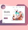 skate website landing page design template vector image
