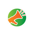 speaker sign logo icon vector image